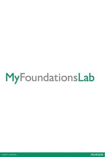 Accuplacer Myfoundationslab Standalone Access Card, 10 Week Access By Pearson (COR)